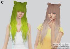 Hair #79 & Buns edit at Kalewa-a via Sims 4 Updates