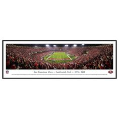 San Francisco 49ers Football Stadium Final Game at Candlestick Framed Wall Art, Multicolor