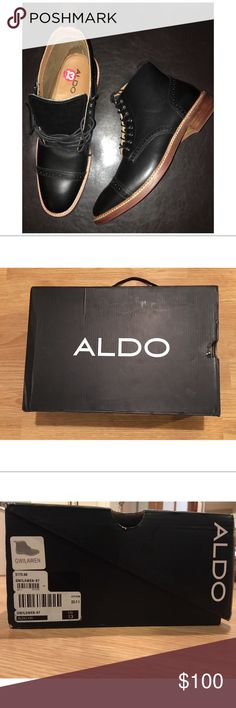 NWT ALDO Men's Dress Boots Selling these Beautiful ALDO boots, bought on Posh recently did not fit 😩. Price is FIRM! Aldo Shoes Boots