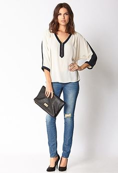 Minimalist Colorblocked Top | Forever 21 - 2000072837