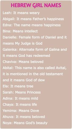 Cute Animal Names, Cute Girl Names, Girl Names With Meaning, Baby Names And Meanings, Unique Baby Names, Baby Girl Names, Baby Girls, Hebrew Girl Names, Biblical Girl Names