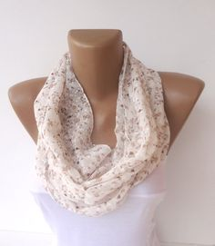 infinity women scarf chiffon loop circle scarves design by seno, $15.00