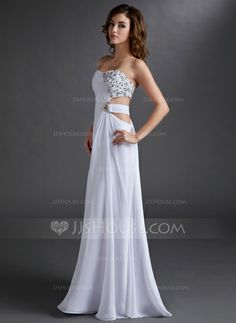 Evening Dresses - $152.49 - A-Line/Princess Strapless Floor-Length Chiffon Evening Dress With Ruffle Beading (017016721) http://jjshouse.com/A-Line-Princess-Strapless-Floor-Length-Chiffon-Evening-Dress-With-Ruffle-Beading-017016721-g16721