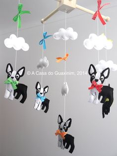 Baby Mobile - Boston Terrier by acasadoguaxinim on Etsy https://www.etsy.com/listing/217033479/baby-mobile-boston-terrier