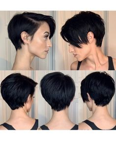 2019 popular short hair style for women, refreshing, good care, sexy, make you look more beautiful and moving frisuren frauen frisuren männer hair hair styles hair women Edgy Short Hair, Dark Curly Hair, Short Hair Cuts For Women, Short Hair Hacks, Pixie Cut Blond, Edgy Pixie Cuts, Curly Hair Styles, Natural Hair Styles, Hair Protein