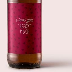 Printable I Love You Beery Much Valentines Day by BeerlyBeloved