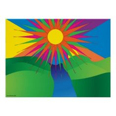 Psychedelic Sun Poster featured on The Daily Rainbow Blog on July 14th!  Huge thanks!