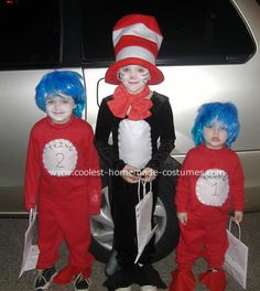The Dr Seuss Gang: I try every year to get costumes together for all 3 of my kids. This year, it worked out perfect that I could make them all Dr Seuss, Cat in the Hat