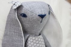 Bunny doll heirloom doll cloth doll dress up doll by HoppDolls