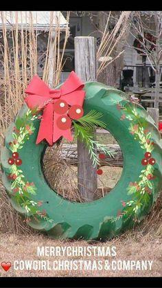 The ultimate country Christmas garland. Cowboy Christmas, Country Christmas, Winter Christmas, All Things Christmas, Christmas Holidays, Christmas Wreaths, Christmas Ornaments, Redneck Christmas, English Christmas