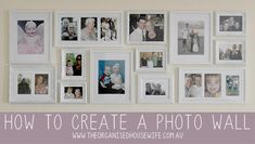 Creating a family photo wall