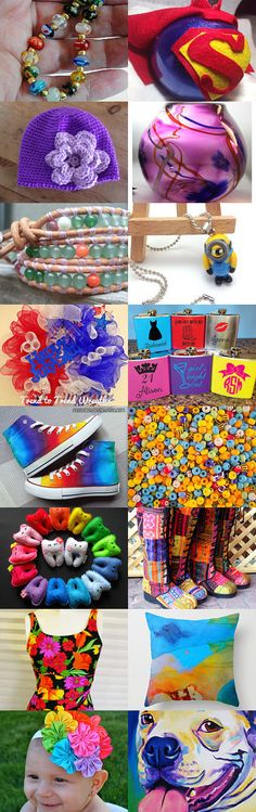 Colorful! by Nancy Goldstein on Etsy--Pinned with TreasuryPin.com #giftideas
