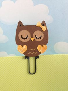 EEEKS.. so cute..Girl Autumn Owl Filofax Day Planner Bookmark Clip by KawaiiPaperie, $1.20 #eclifeplanner14 #erincondren