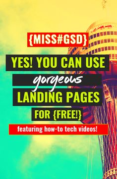 YES, FREE (GORGEOUS!) LANDING PAGES ARE NOW A THING! http://missgsd.com/blog/mailerlite-landing-pages/