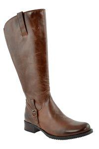 Jordana Super Plus Wide Calf™ Boot (Brown) - JJ Footwear Wide Calf Boots