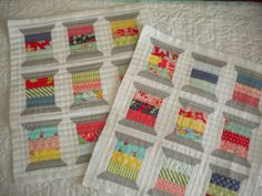 This inspired a spool quilt (mini) of my own. Will hang it in my sewing space in the new family room. Quilting Room, Quilting Projects, Quilting Designs, Sewing Projects, Mini Quilt Patterns, Mug Rug Patterns, Small Quilts, Mini Quilts, Spool Quilt