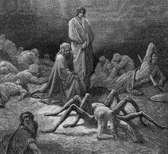 Gustave Dore, Purgatorio, Canto 12: Dante Views The Soul Of Arachne