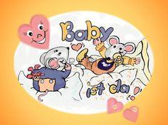 #Fototasse Baby ist da - Sag es mit Liebe. #Baby #Geburt #Teetasse #Trinktasse #Teebecher #Eltern #Entbindung
