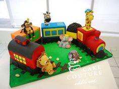 Kids Train Cake