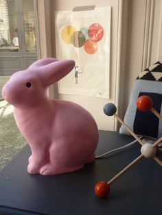 Boutique Plein les Mirettes: Egmont Toys pink rabbit lamp #bunnyinthewindow