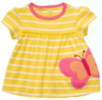 เสื้อเด็ก Carters เสื้อสีเหลืองสดใสปักผีเสื้อตัวโตน่ารัก Butterfly เนื้อผ้านุ่มใส่สบายมากค่ะ || welovecatalog.com