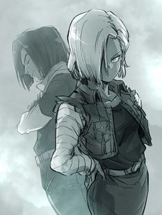 Android 17 e Android 18 (The Androids Saga) Dragon Ball Z, Krillin And 18, Character Art, Character Design, Z Wallpaper, Ball Drawing, C 18, Anime Naruto, Dbz