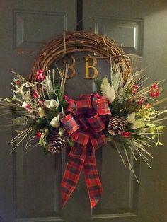 Circle C Amanda G! ...Traditional Christmas Wreath On Grapevine Base