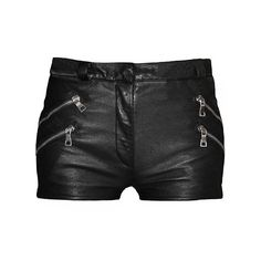 Balmain Black Leather Shorts (€2.745) ❤ liked on Polyvore featuring shorts, bottoms, pants, short, women, leather short shorts, leather shorts, balmain, balmain shorts and zipper shorts