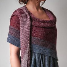 Sonder Beginner Knit Shawl | What we love the most about this easy knitted shawl pattern is just how customizable it is. No matter what, it's bound to be a staple in your wardrobe. Crochet Bikini Pattern, Swimsuit Pattern, Knit Crochet, Crochet Shawl, Shawl Patterns, Easy Scarf Knitting Patterns, Easy Knitting Projects, Knitting Ideas, Expression Fiber Arts