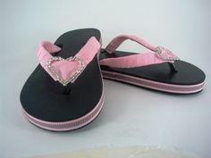Crystal heart flip flops for girls  Price: $18.95