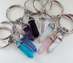 Crystal pendant keychains crystal keychain by BubbleGumGraffiti