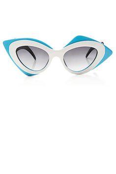 "<p>Linda Farrow and Prabal Gurung Cat-Eye Acetate Sunglasses, $405; <a href=""http://modaoperandi.com/linda-farrow/ss14/accessories-2373/item/prabal-gurung-cat-eye-acetate-sunglasses-269312?utm_medium=Linkshare"