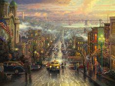 The Heart of San Francisco | The Thomas Kinkade Company