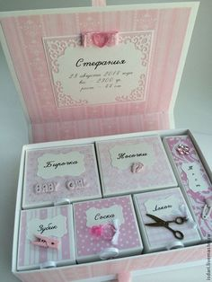 Baby Keepsake, Keepsake Boxes, Mini Albums, Diy Projects To Try, Craft Projects, Baby Shower Baskets, Diy And Crafts, Paper Crafts, Kit Bebe