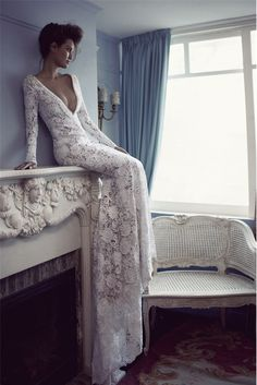 Absolutely G-O-R-G-E-O-U-S #lacegown #lace