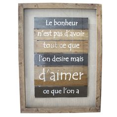 Wooden picture with quote, x 2 x 24 '' - Rustic