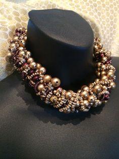Gold bead choker