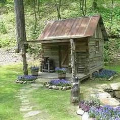 would love to build something like this in my back acreage..a little hide away you know