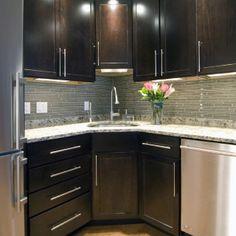 Traditional Dark Wood Kitchen Design With Glass Cabinetry   Traditional    Kitchen   Denver   Kitchens By Wedgewood | Kitchen Ideas | Pinterest | Dark  Wood ...