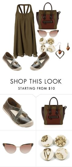 """And Sneakers with Dresses"" by michelle858 ❤ liked on Polyvore featuring Keen Footwear, CÉLINE and Oliver Peoples"