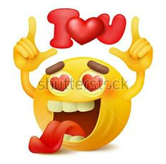 Emoticons Cartoon Characters Vector file t Funny Emoticons, Funny Emoji, Smileys, Love Smiley, Emoji Love, Love You Images, Love Pictures, Heart Pictures, I Love My Wife