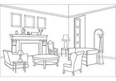 Free Printable Coloring Pages for Adults House colouring pages Coloring pages Purple living room