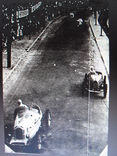 GP RIO DE JANEIRO (GAVEA) 1936 , Alfa Romeo Monza #2 of Hellé Nice , reputedly painted in Blue...followed By Bugatti T51 #12 of Vittorio Coppoli
