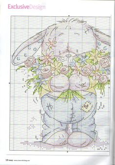 Somebunny to love cross stiching in full of bloom