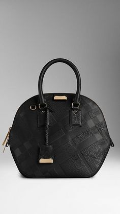 THE MEDIUM ORCHARD IN EMBOSSED CHECK LEATHER. BURBERRY
