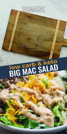 This KETO BIG MAC SALAD has all of the flavors of my favorite fast food sandwich without all of the carbs or guilt! This makes a great lunch, it's packed with protein, and it's sure to satisfy that craving! Low Carb Keto, Low Carb Recipes, Cooking Recipes, Healthy Recipes, Salad Recipes For Dinner, Salad Dressing Recipes, Dessert Recipes, Mac Salad Recipe, Big Mac Salad