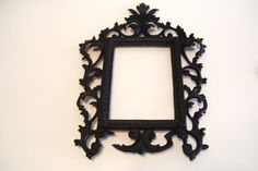 Antique Cast Iron Picture Frame Victorian - Opening 6 x 4.25 Inches by okanaganvintage on Etsy