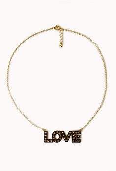 Spiked Love Pendant Necklace - FOREVER 21