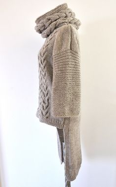 Sweater Cardigan Cowl Sweater Jacket Coat Tunic от reflectionsbyds