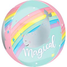 Magical Rainbow Balloon 15in x 16in - See Thru Orbz | Party City